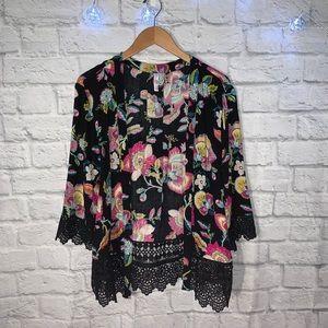 Xhilaration Floral Kimono